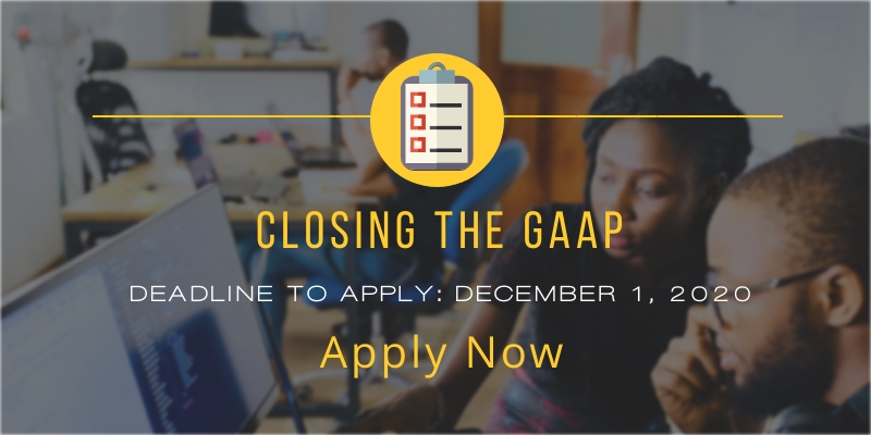Closing the GAAP -  apply by Dec. 1